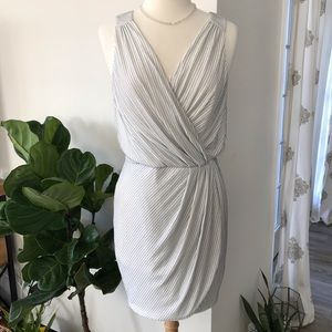 [guess] shimmer grecian wrap cocktail dress